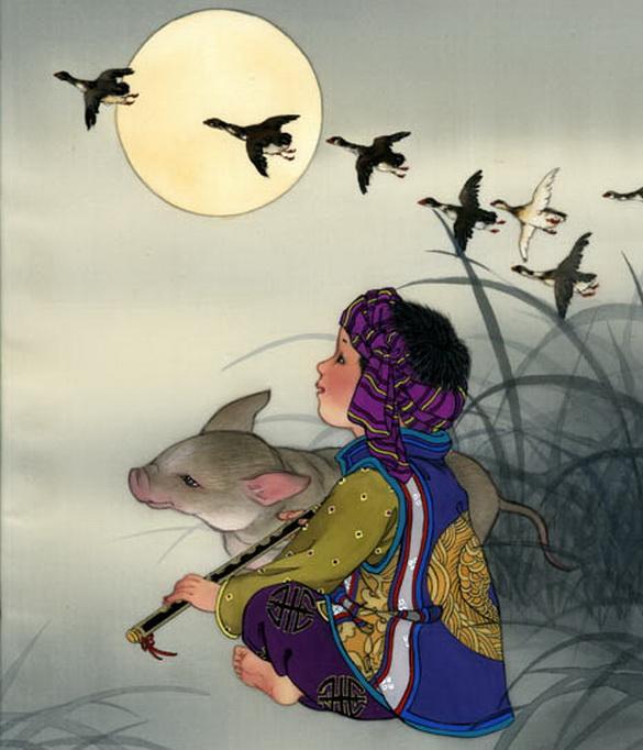 """Поросенок с  """"маленько китайским """" прищуром, длинным хвостом и сморщенным носом, но в целом, по-моему, очень романтично..."""
