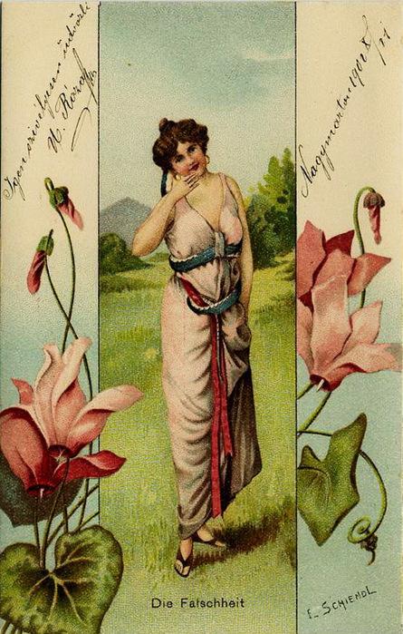 Язык цветов старинные открытки 31
