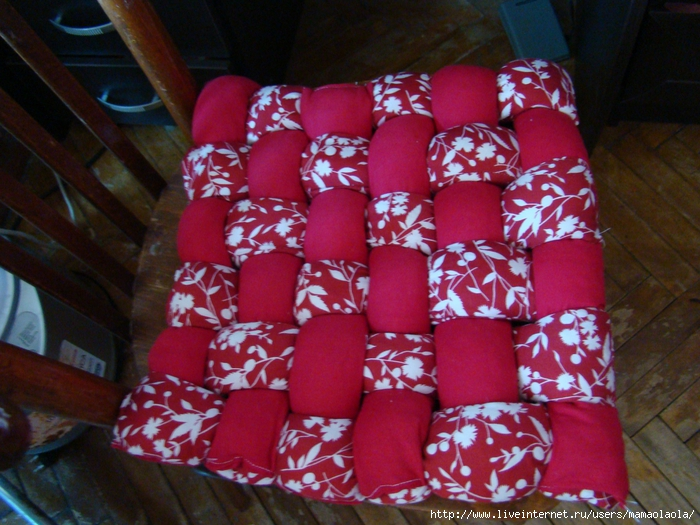 Подушки на стулья своими руками сшить
