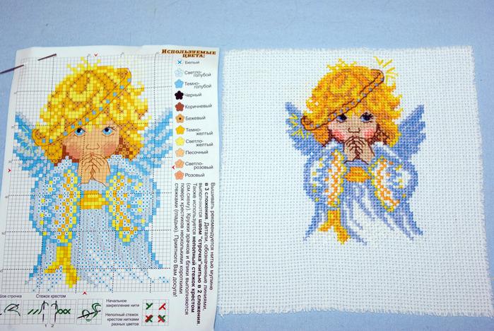 Схемы для вышивки крестом мой ангел 435