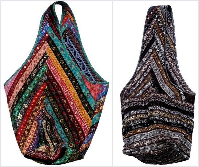 1 или 2 платка связать за углы- узел на шее.  Переделка старой одежды.