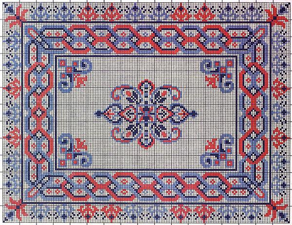 Вышивка орнамент схемы 90