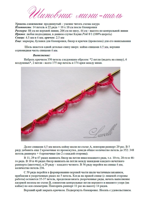 拉里萨瓦莱瓦的玫瑰迷你披肩 - maomao - 我随心动
