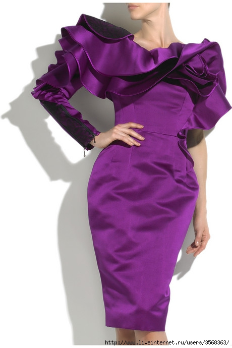 CHANNEL 80S GLAMOUR ASYMMETRIC RUFFLE DRESS 2624$ (460x690, 120Kb)