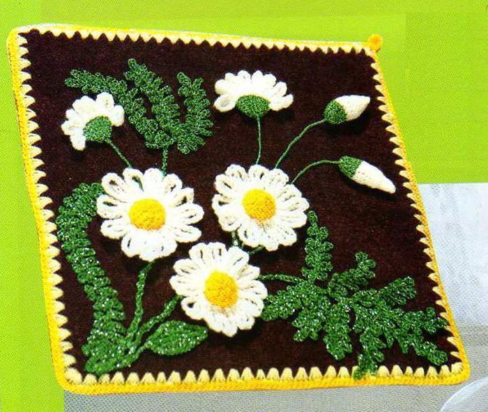 Daisy Potholder - Free Crochet Potholder Pattern