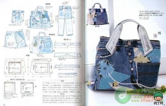 Как сшить сумку из джинс своими руками выкройки фото 93