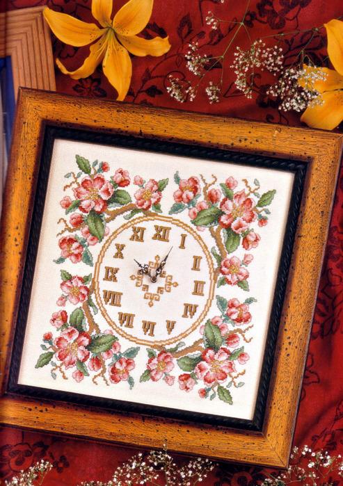 07 - Reloj Flores Rosas 01 (493x700, 208Kb)