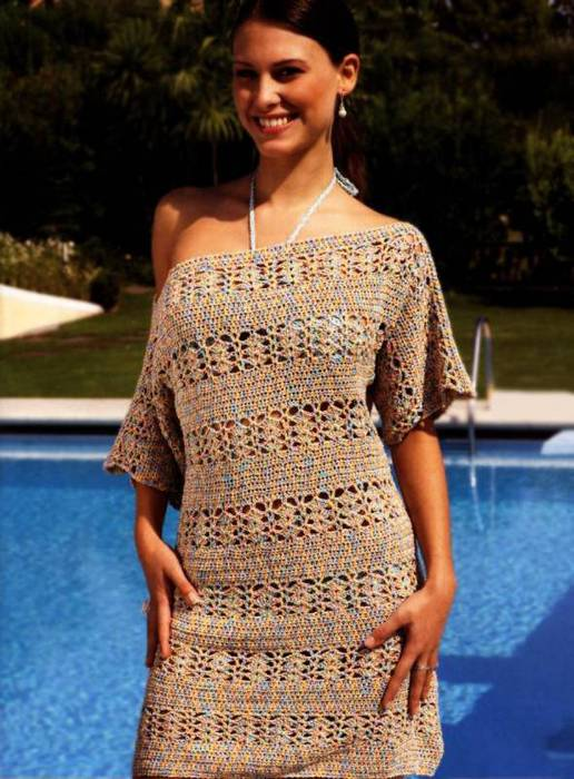 Летние платья крючком для полных 11