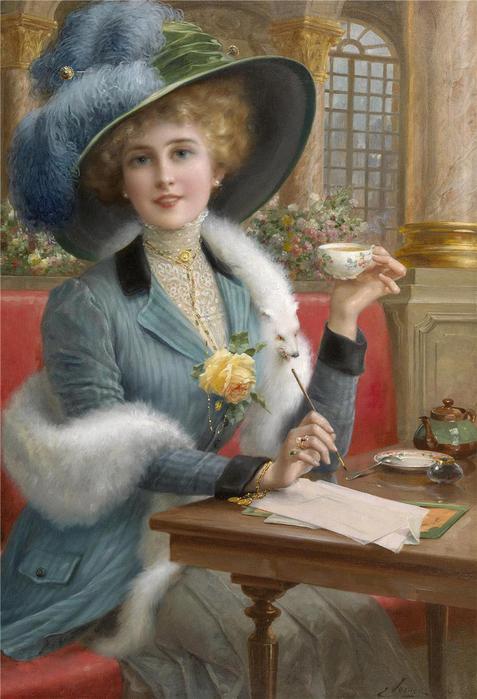 Картинки по запросу Красивые женщины на ретро-открытках.