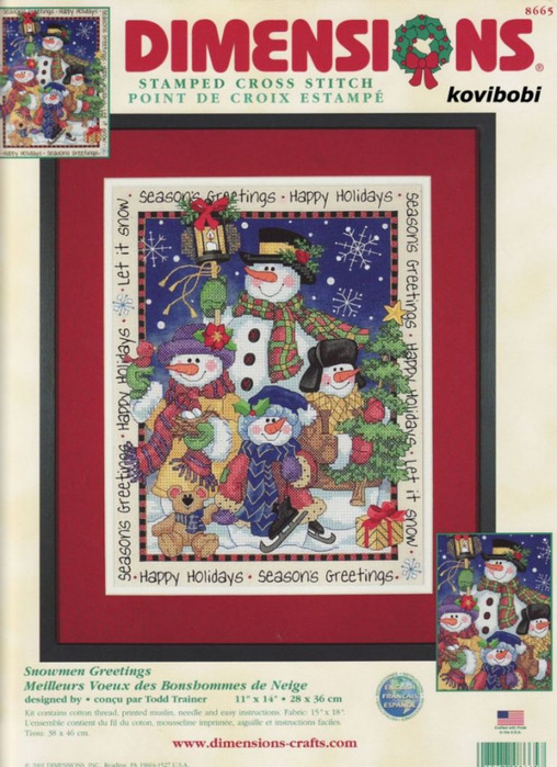8665 Snowmen Greetings (508x700, 147Kb)