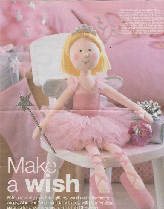 Alan Dart Make a wish Ballerina doll (549x700, 30Kb)