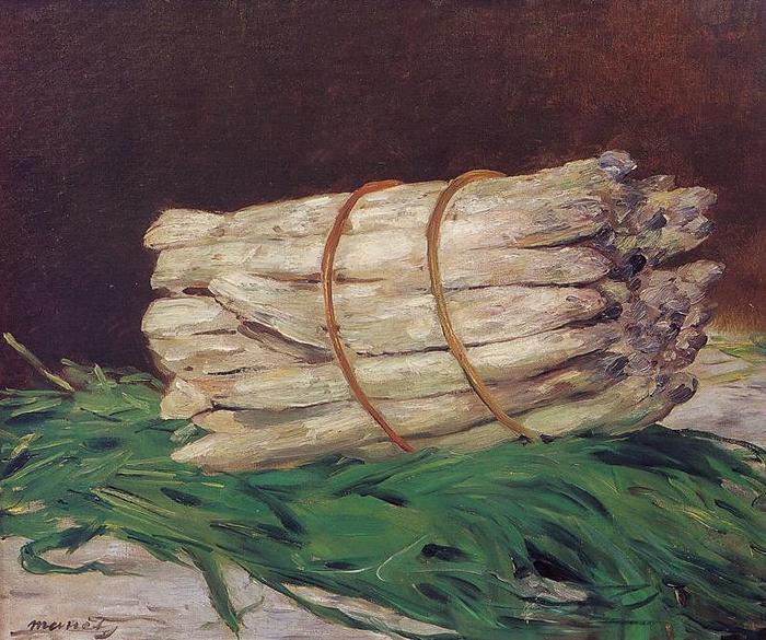 Связка спаржи, Эдуард Мане (Édouard Manet,1832-1883), 1880 (700x585, 357Kb)
