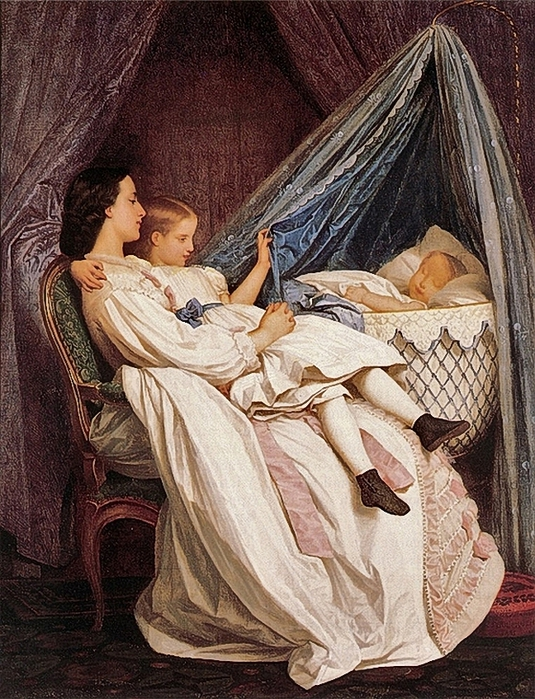 Auguste Toulmouche (French artist, 1829-1890) The New Arrival 1877 (535x700, 367Kb)