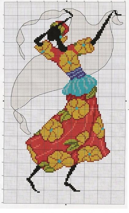 """0. valerya74. оригинал.  Картинки.  Автор схемы  """"Африканка """".  Размеры: 90 x 150 крестов."""