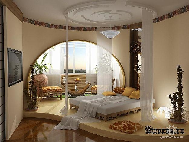 Дизайн спальня-кабинет