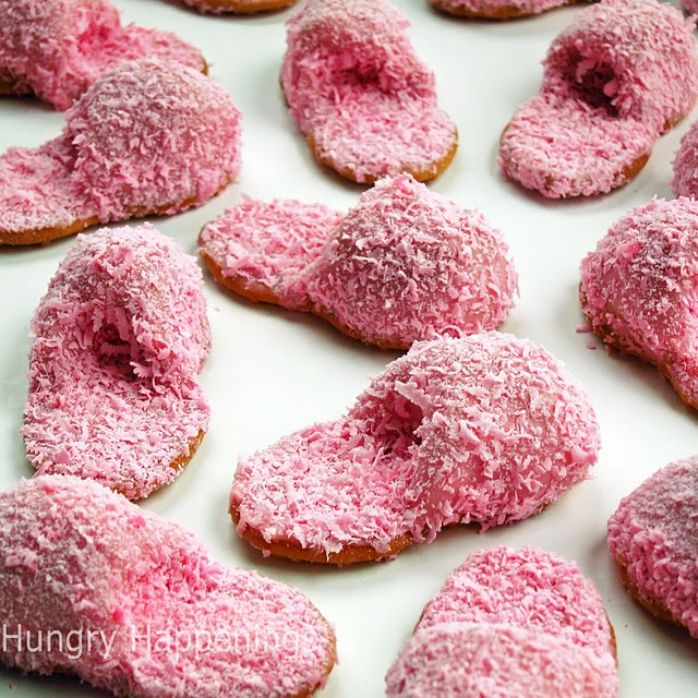 Mother's Day recipes pink fuzzy slipper cookies  (640x640, 146Kb)
