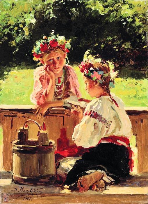 В.Маковский. Девушки, освещенные солнцем (509x700, 439Kb)