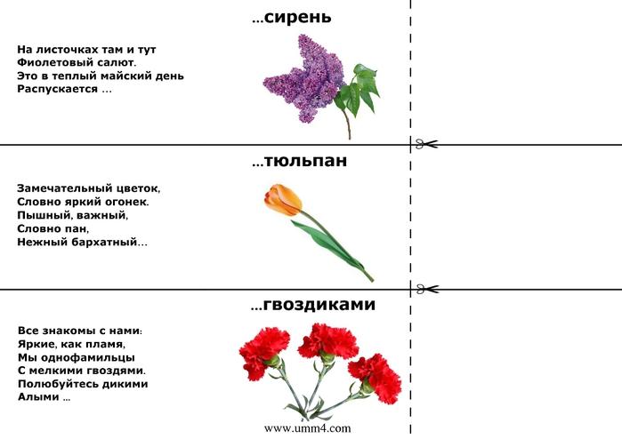 Загадки про цветы для детей 3 4 лет