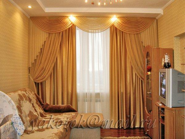 Дизайн штор та гардин для зала