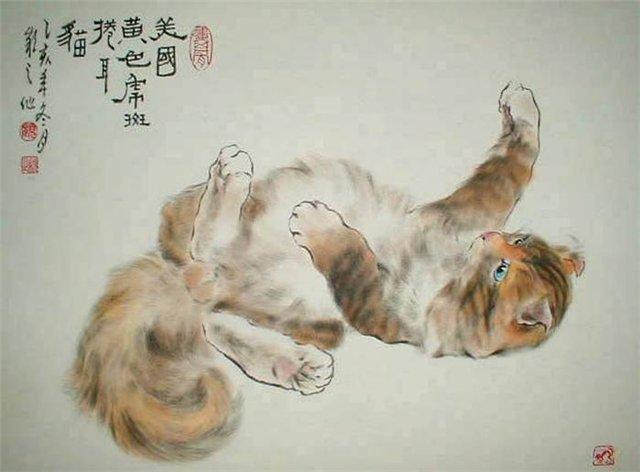 Макияж кошки мастер класс акварель пошагово #7