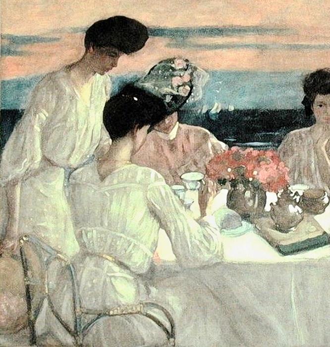 Frederick_Carl_Frieseke_(1874-1939)__Afternoon_Tea_on_the_Terrace (666x700, 514Kb)