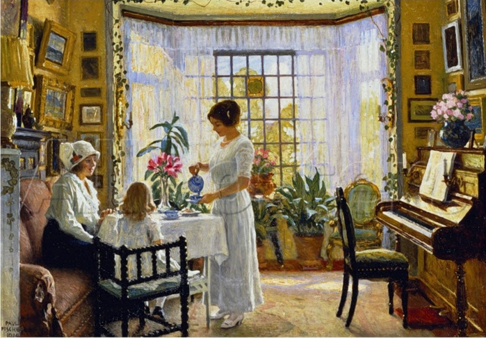 Fisher Paul-Afternoon Tea, c.1914 (700x486, 314Kb)