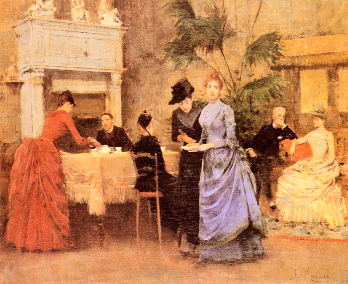 Francisco Miralles  -  Afternoon Tea (700x571, 477Kb)