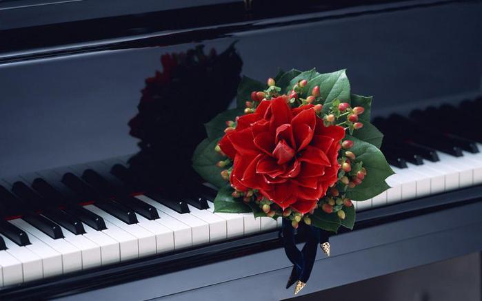 Музыкальные картинки цветы 5