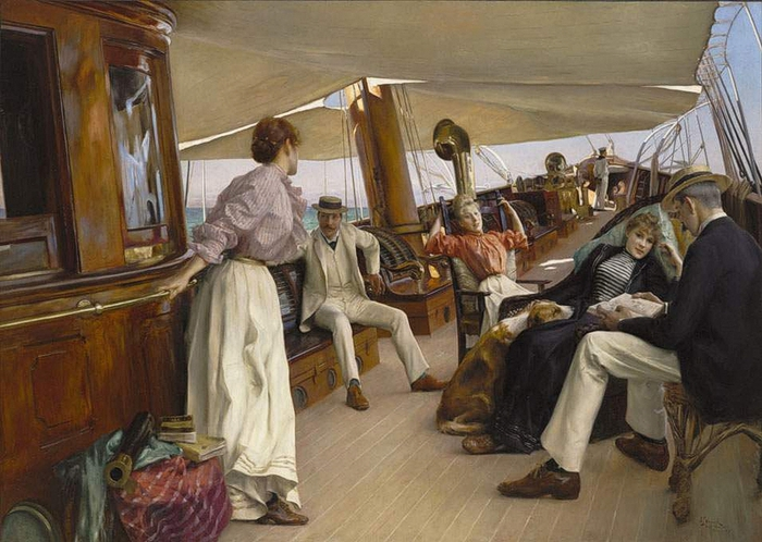 Julius LeBlanc Stewart - On the Yacht Namouna, Venice (700x498, 276Kb)