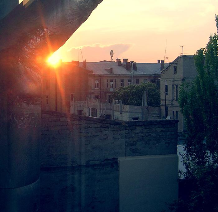закат, солнце дом одесса