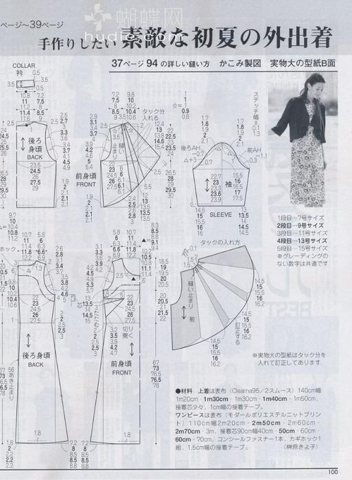 Японская выкройка основы