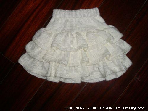 юбка плиссе для девочки -