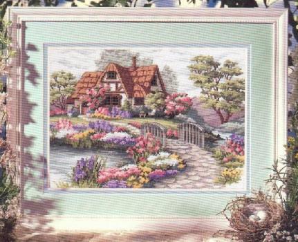 Картины и пейзажи крестиком.