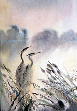 Символизирует.  Посейдона. цапля - священная птица бога морей. ее появление считали благоприятным знаком...