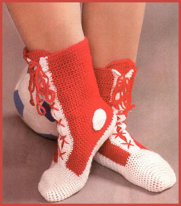 Оригинальные носки-кеды.