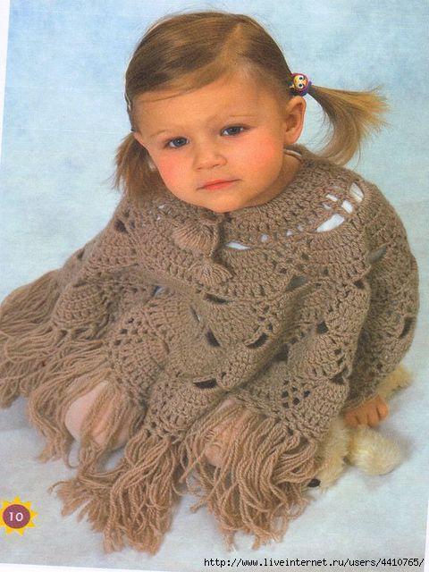 Вязание детских пончо