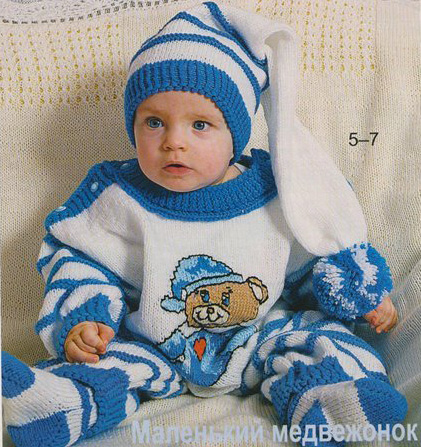 Вязание зимних для детей до года 874