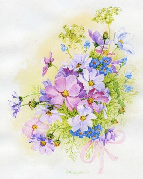 Рисунки красивые цветы картинки