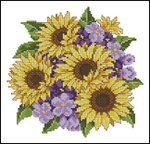 Превью Sunflower and violet (324x312, 116Kb)