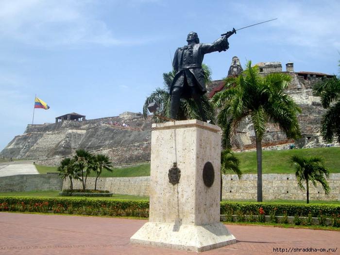 Колумбия, Картагена, памятник пирату, Shraddha 2 (700x525, 260Kb)