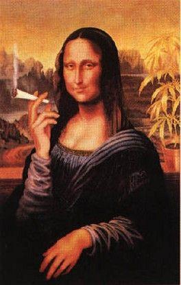 Джоконда с сигаретой (264x415, 22Kb)