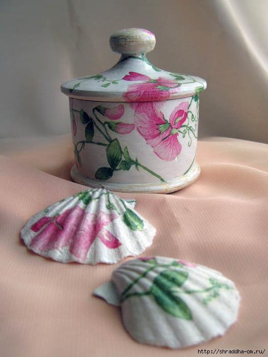 шкатулка с крышкой, розовый вьюнок, акрил, декупаж, Shraddha 1 (525x700, 177Kb)