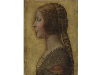 Профиль девушки в платье Ренессанса (340x255, 16Kb)