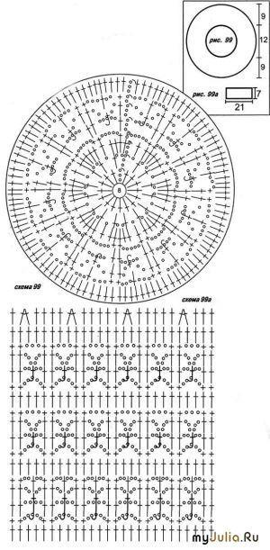 схема беретов вязанных спицами герда