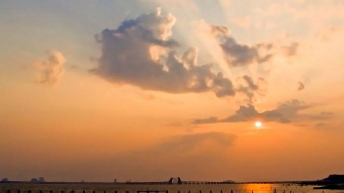 Прекрасный закат солнца 2