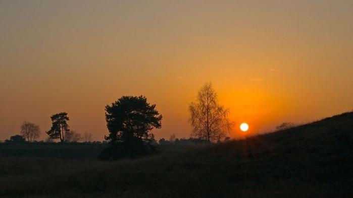 Прекрасный закат солнца 7