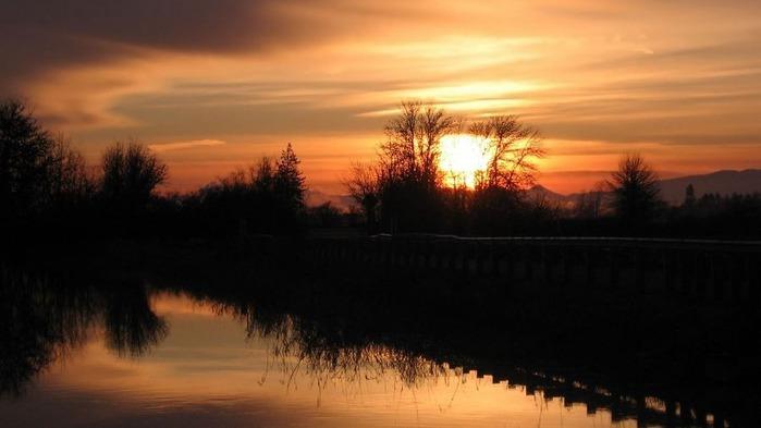 Прекрасный закат солнца 15