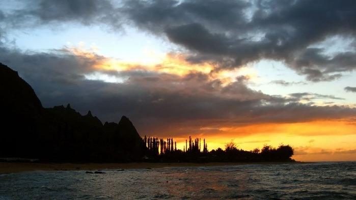 Прекрасный закат солнца 20