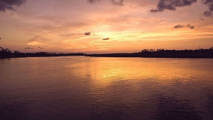 Прекрасный закат солнца 25