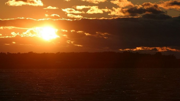 Прекрасный закат солнца 26